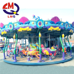 Park attractions for children fun ! outdoor funfair kiddy rides animal carousel for sale