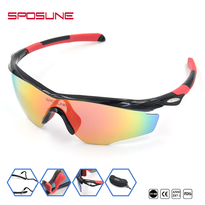Sposune Fashion design youth light frame mirrored coated polarized running fishing climbing <strong>sun</strong> glasses