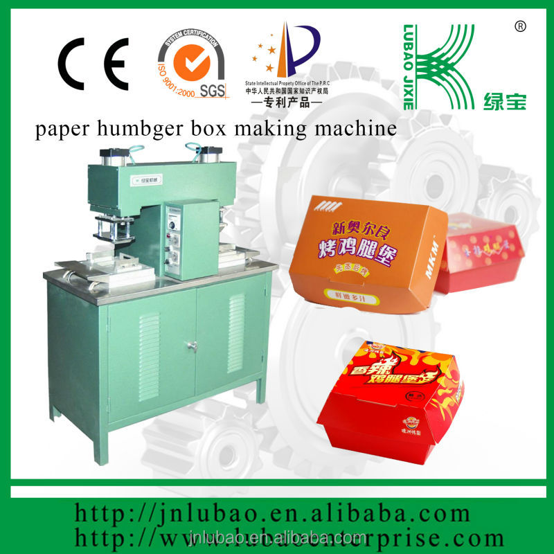 ce certificaat food grade papier kartonnen doos making machine