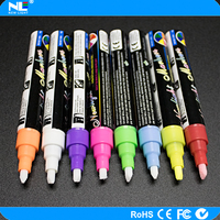 High quality porcelain marker pen/ paint empty marker pen for LED writing board