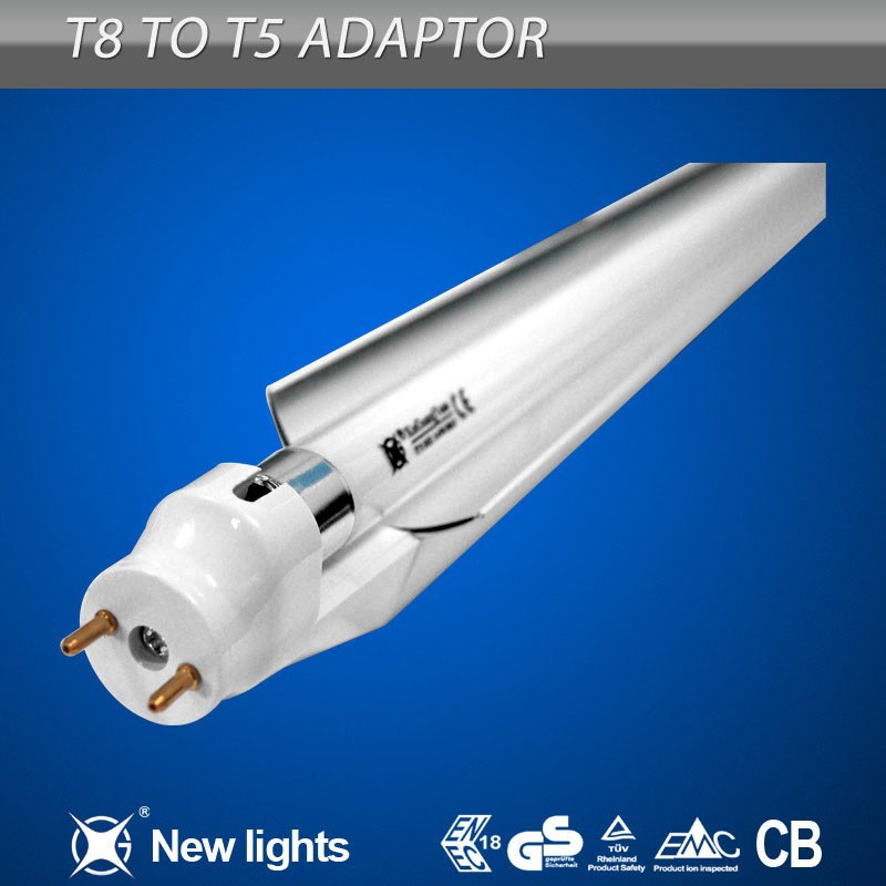 Anti-Oxidation Film Nano Meter on the Aluminum Reflector T8 to T5 Fluorescent Lamp Adapter