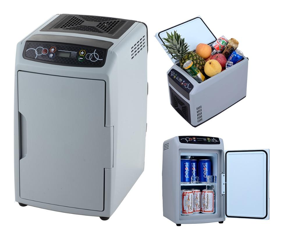 Solar Powered Mini Fridge 12l Battery Operated Mini Refrigerator Dc 12v Car Portable Fridge