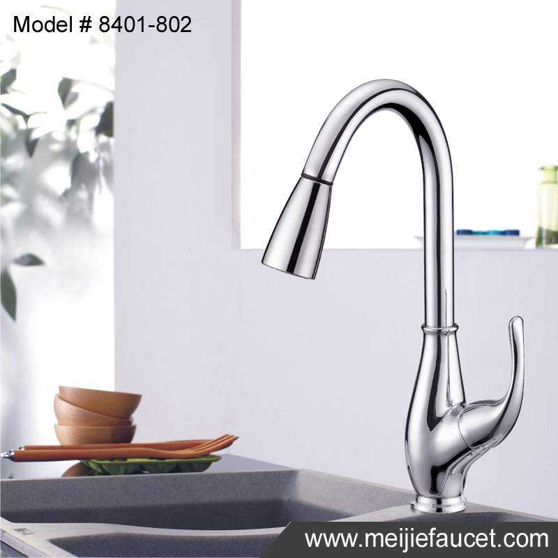 NSF UPC CSA CE Certified Single Handle Pull-Down Kitchen Faucet