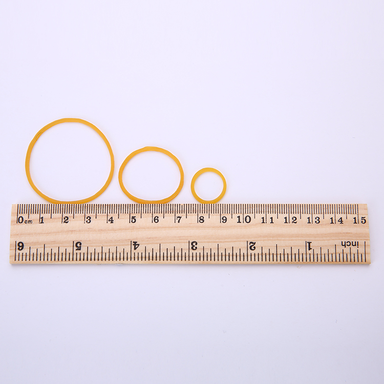 Factory price custom size yellow natural rubber band for packing