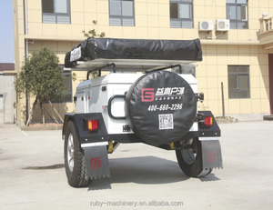 TK-D2 Off Road folding Car Camper Trailer with Roof TopTent