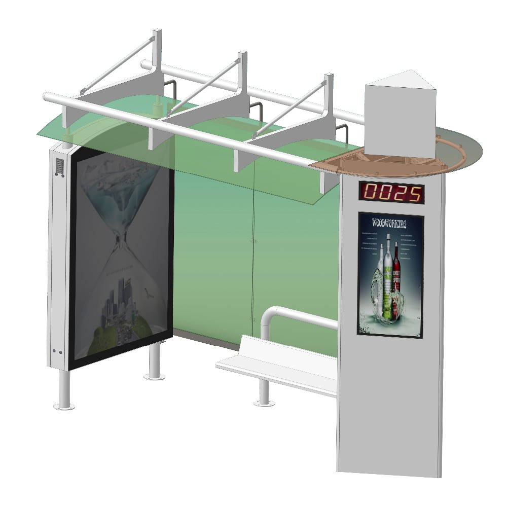 product-YEROO-Street furniture bus shelter materials smart bus stop-img-2
