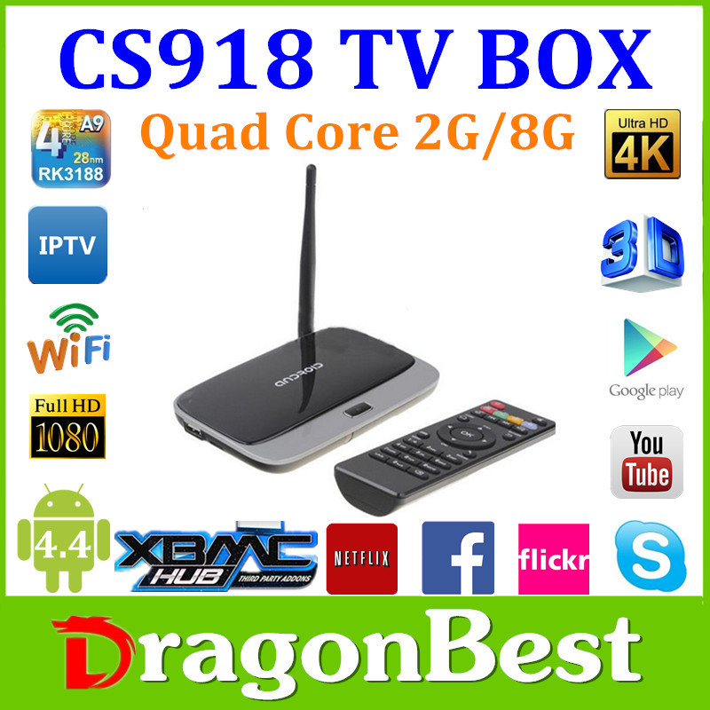 CS918 quad core android tv box Rockchip rk3188 android smart tv box CS918 android media player