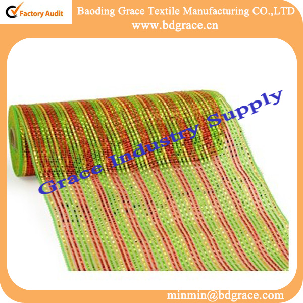 coloful packing pp plastic wrapping mesh flower