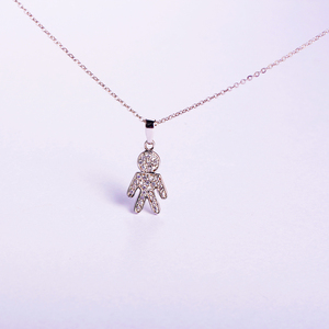 Wholesale Jewelry human-like 925 Solid Silver Pendants Charms