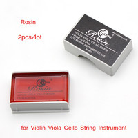 High Quality String Bow Rosin Colophony Pitch Friction-increasing Resin for Violin Viola Cello String Instrument 2pcs/lot
