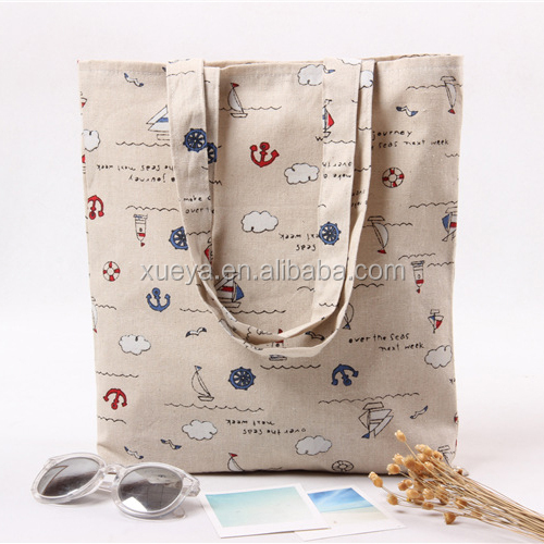 2017 beautiful high quality cotton tesco embroidery jute bag