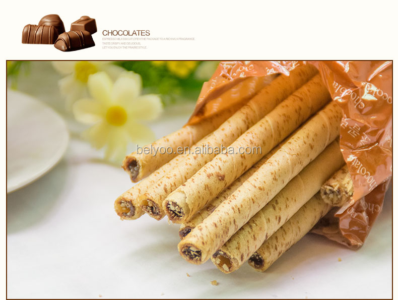Coconut wafer sticks with hazelnut production line