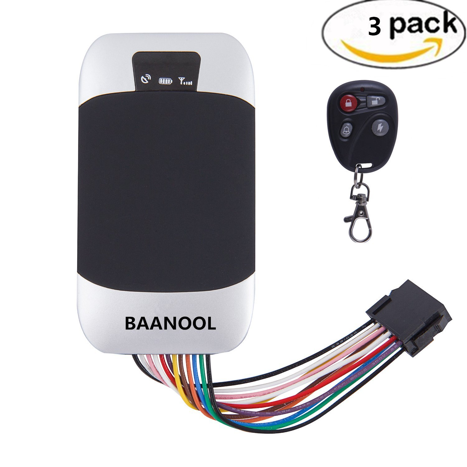 BAANOOL 3PCS Waterproof Real Time GPS Tracker Remote Control GPS Tracking Device Vehicle Tracker Car Tracker Devices 303G