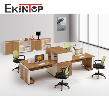 Modern Office Furniture Desk 4 Seat Workstation Table Four People Dual Workstations