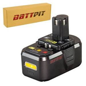 Battpit™ 18V Conventional Li-ion Power Tool Battery Replacement for Power Tool Battery Replacement for Ryobi P713 (3000mAh / 3.0Ah)
