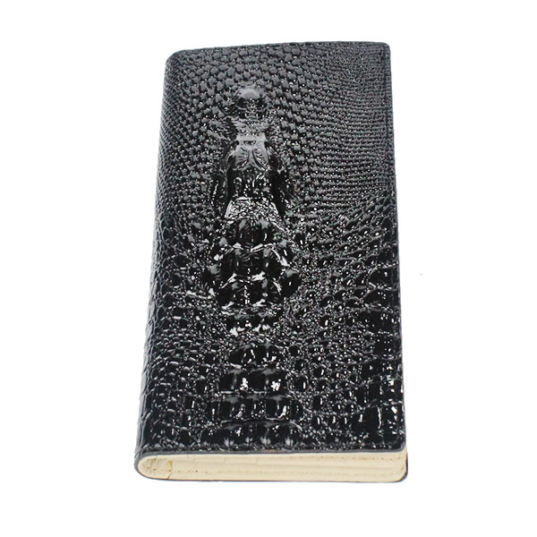 fashion long high qulity alligator pu leather vintage wallets