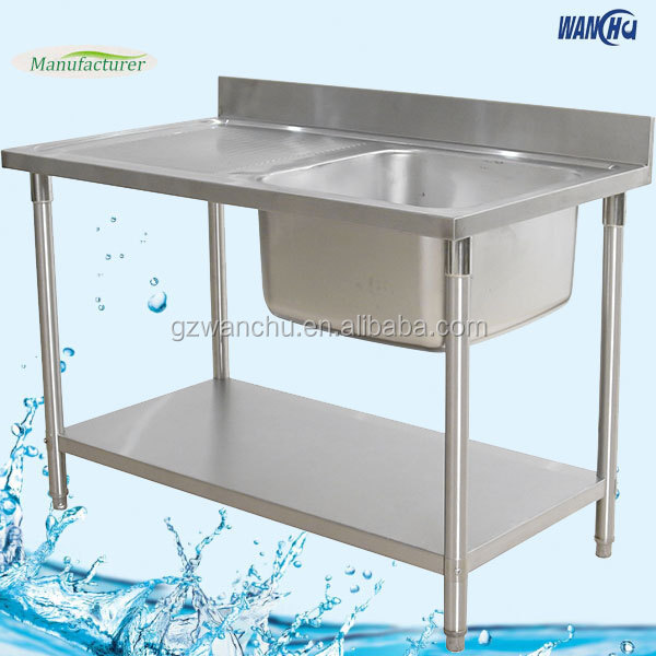 Dubai Kitchen Stainless Steel Sink Table/Single Bowl Kitchen Sink with  Table for Industrial Projects China Factory, View Dubai Kitchen Stainless  Steel