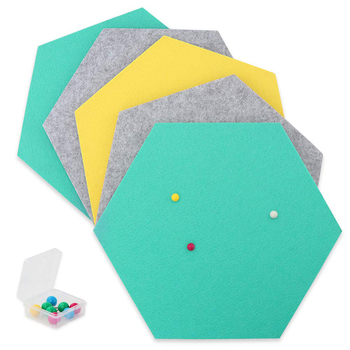 Best Choice Set of 5 Felt Bulletin Pin Board on Wall