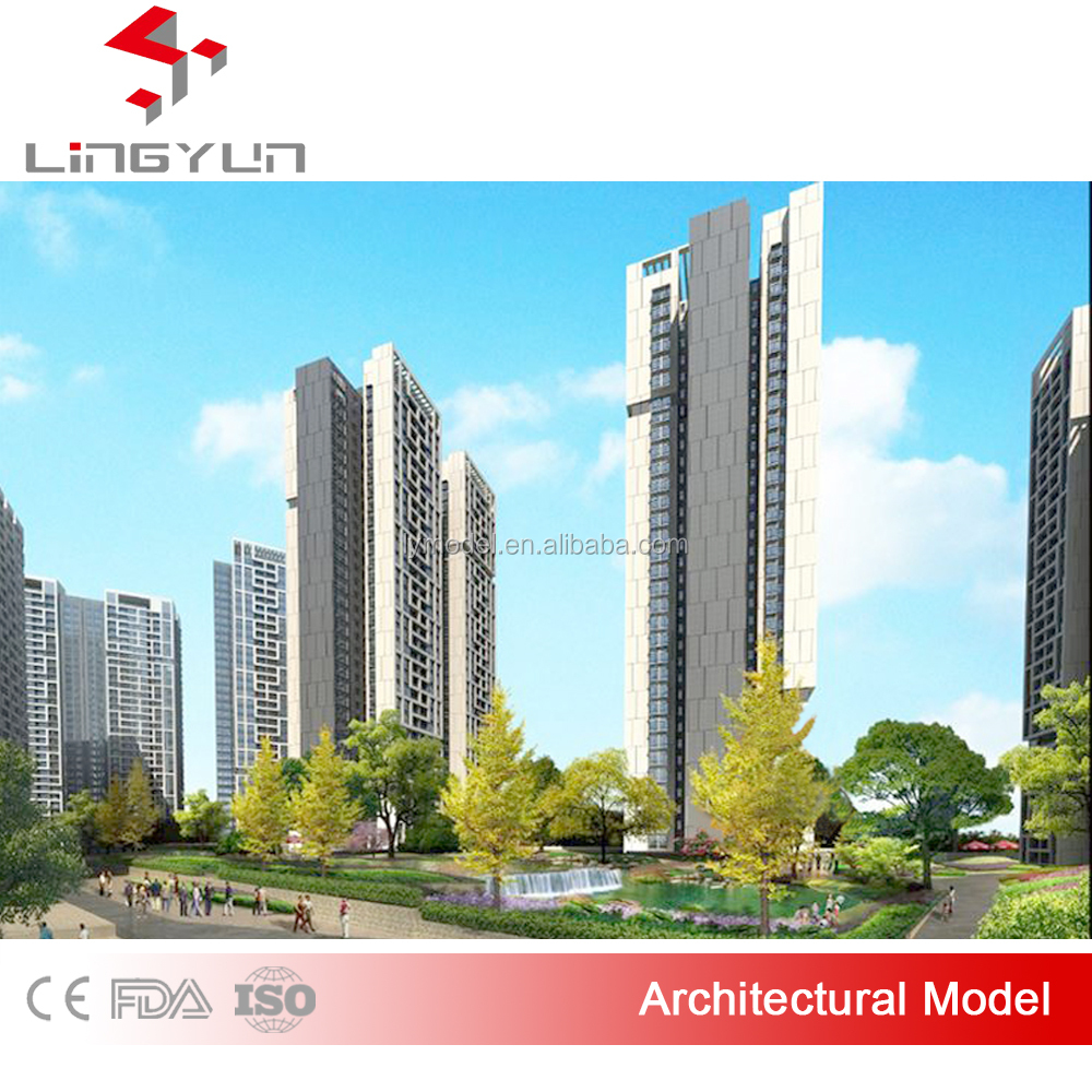 architectural model making for hengda group with lighting