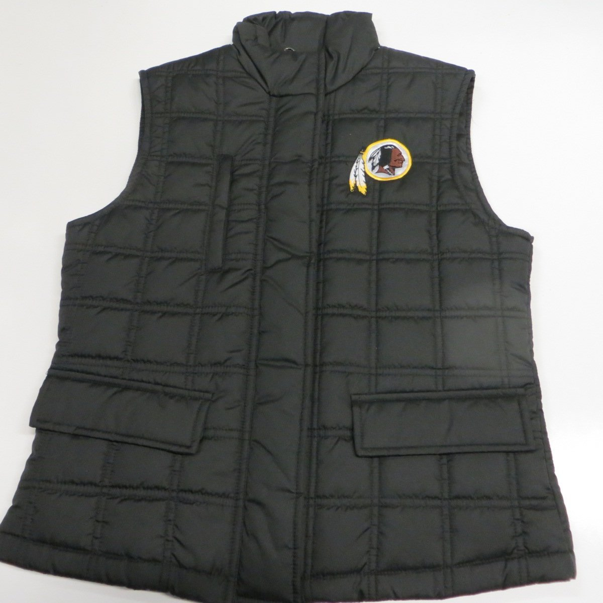 NFL Washington Redskins Womens Medium Full Zip Embroidered Quilted Vest Jacket ARDK 4 M