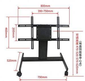 CE Certification Lift Mechanism Black Glass Mirror Tv Stand Pictures