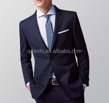 Italiano 100% traje de lana hecho a mano de los hombres traje azul marino  MTM 743e3aa425b9
