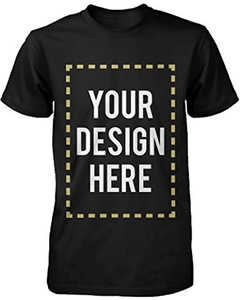 Custom printing mens t shirt Polyester / Cotton printing custom black round neck t shirt