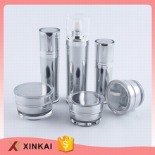 New design pet bottles for cosmetics packaging acrylic cosmetics bottles and jars set