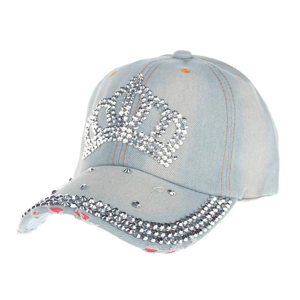 0baeeda7d4f44 Get Quotations · Funic Clearance Sale Classy Hip-Hop Baseball Caps Full  Diamond Crown Flat Snapback Hats