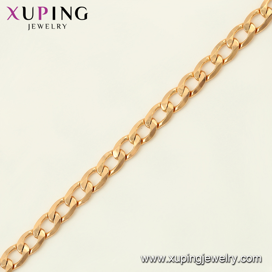 76041 Xuping  Fashion 18K Gold Plated Chains Bracelet