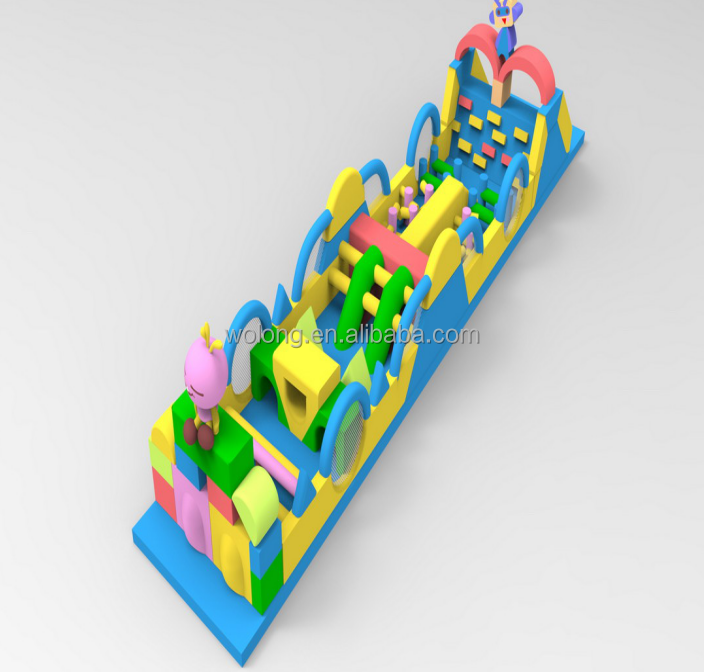 Popular sale inflatable obstacle for kids giant inflatable obstacle course for ground use