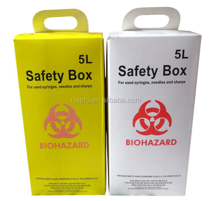 MEDICAL KRAFT PAPER MEDICAL SAFETY BOX AND SHARPS BIN FOR USED SYRINGES COLLECTION