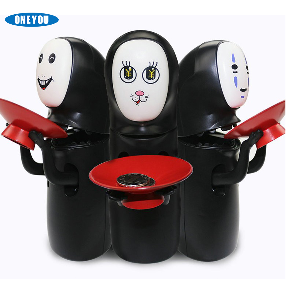 Creative Electronic No-face Male Hiccup Sound Money Coin Storage Bins Money Saving Box Piggy Bank For Kids