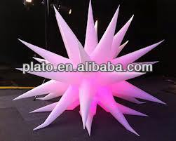 inflatable air star balloon with led light