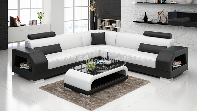 Modern sectional sofa furniture, Modern couch living room sofa set ...
