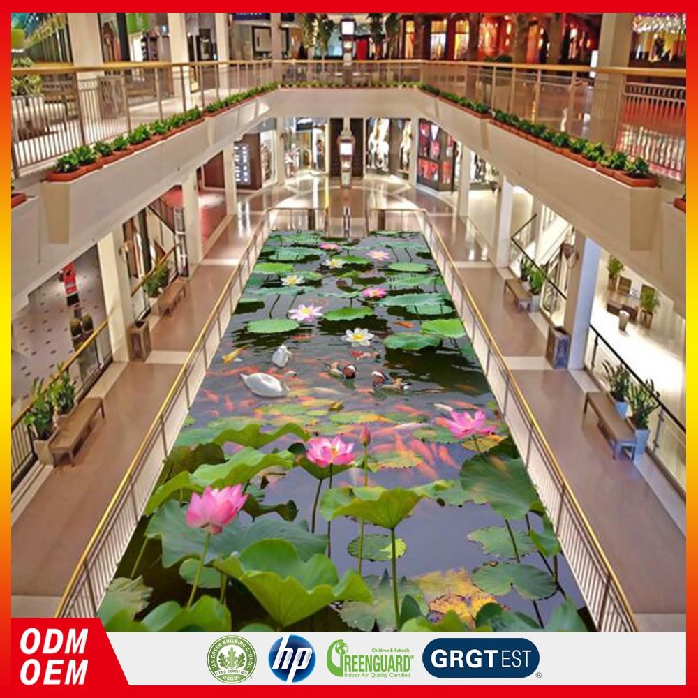 Chinesischen Lotus Karpfen Badezimmer Wohnzimmer 3d Epoxy Boden Aufkleber  Günstigen Preis - Buy Lotus Karpfen Bad Boden Aufkleber,Wohnzimmer 3d Epoxy  ...