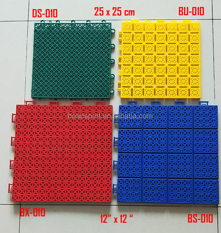 निकाल ग्रिड-नियंत्रण रेखा टाइल्स 12inx12inx1/2in इंटरलॉकिंग गेराज फर्श टाइल्स