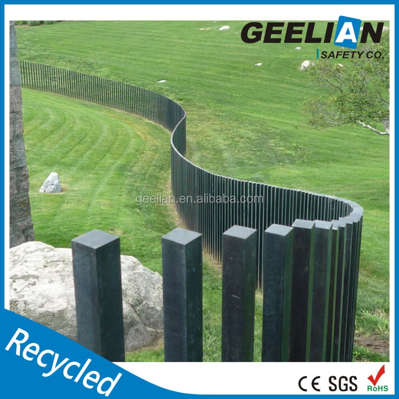 Round Square Bevelled 3 Rail Horse Fence Plastic Post