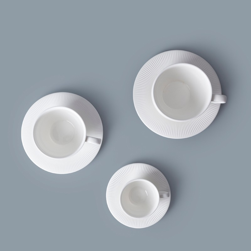 product-Special Design Hotel Ware 90ml Porcelain Espresso Cups With Saucer, Crockery Restaurant Coff