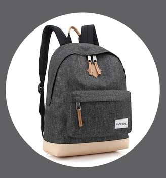 Small Cheap Nylon Bookbag Fashion Backpack Purse, Korean Style Denim Backpack Custom School Bag With Laptop Sleeve