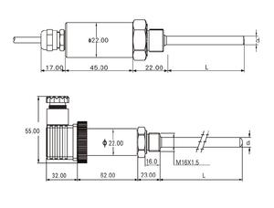 Water Temperature Sensor For Caterpillar, Water Temperature