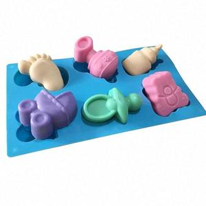 DIY Baby Shower Series Hand Made Silicone Soap Chocolate Cake Cookie baby soap Mold Pudding Jelly Mold
