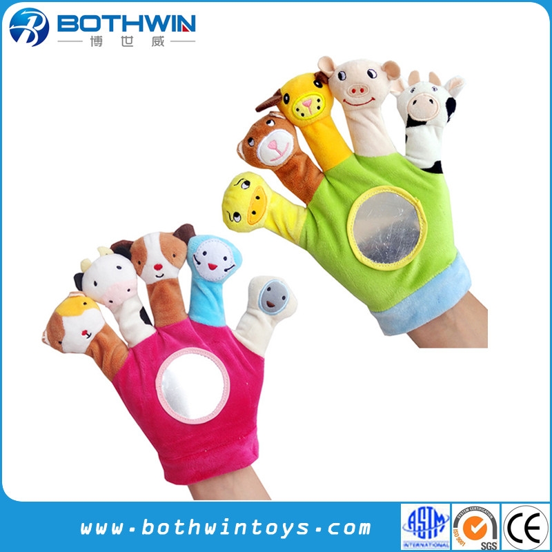 Fit Full Hands Plush Baby Animal Hand Finger Puppets For Baby