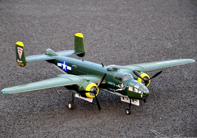 Large scale b25 electric rc model aircraft plane buy rc for Model airplane motors electric