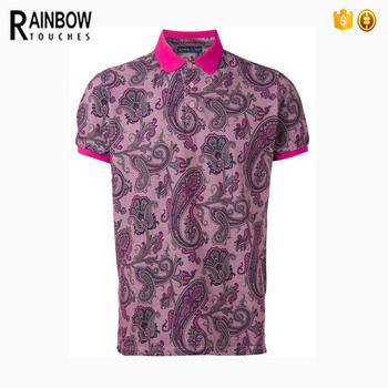 ad176aea341c29 Floral Full Print Sublimation Men Polo Shirts - Buy Printing Polo Shirts ...