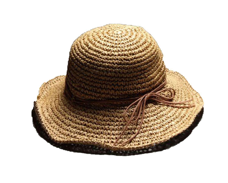 Get Quotations · 2018 New Raffia Handmade Crochet Soft fold Straw Sun  Summer Hats for Women Mother s Day Gift 8976f261ceaa