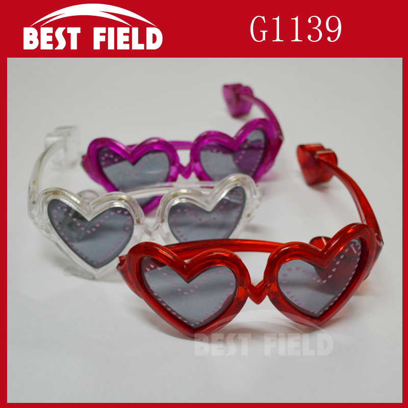 c8aff5cac2b Blinking LED glasses heart Shades Flashing Light LED Sunglasses for 4color  10 light