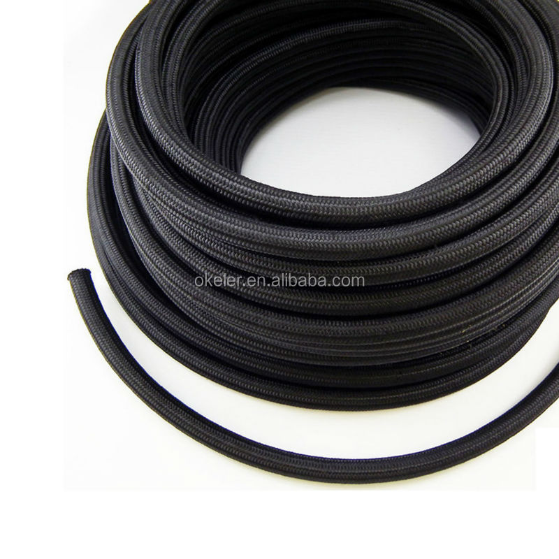 1ft Nylon Stainless Steel Braided 1500 PSI AN10 10-AN Oil Fuel Gas Hose Line