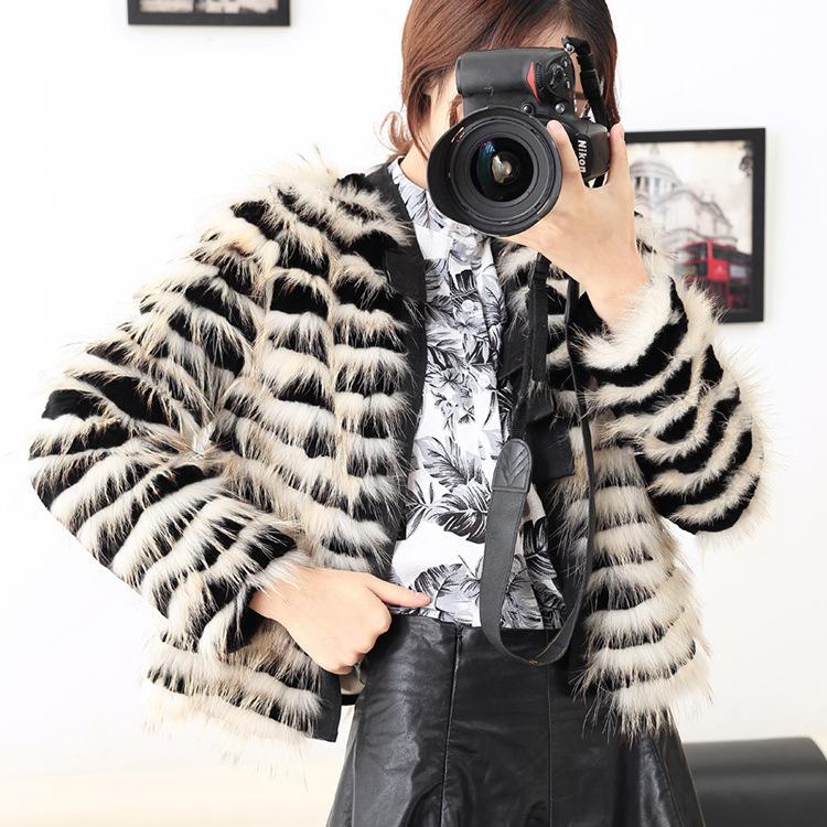 Free shipping fashion New arrival font b winter b font 2016 raccoon fur coat short dress