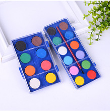 Superior Quality 8/12colors Solid Water Color Cake Paint Watercolor Paint Set For Art Painting